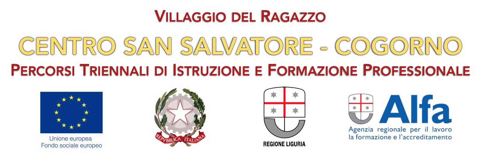 Loghi istituzionali Unione Europea Ministero Lavoro Regione Liguria Alfa Centro San Salvatore