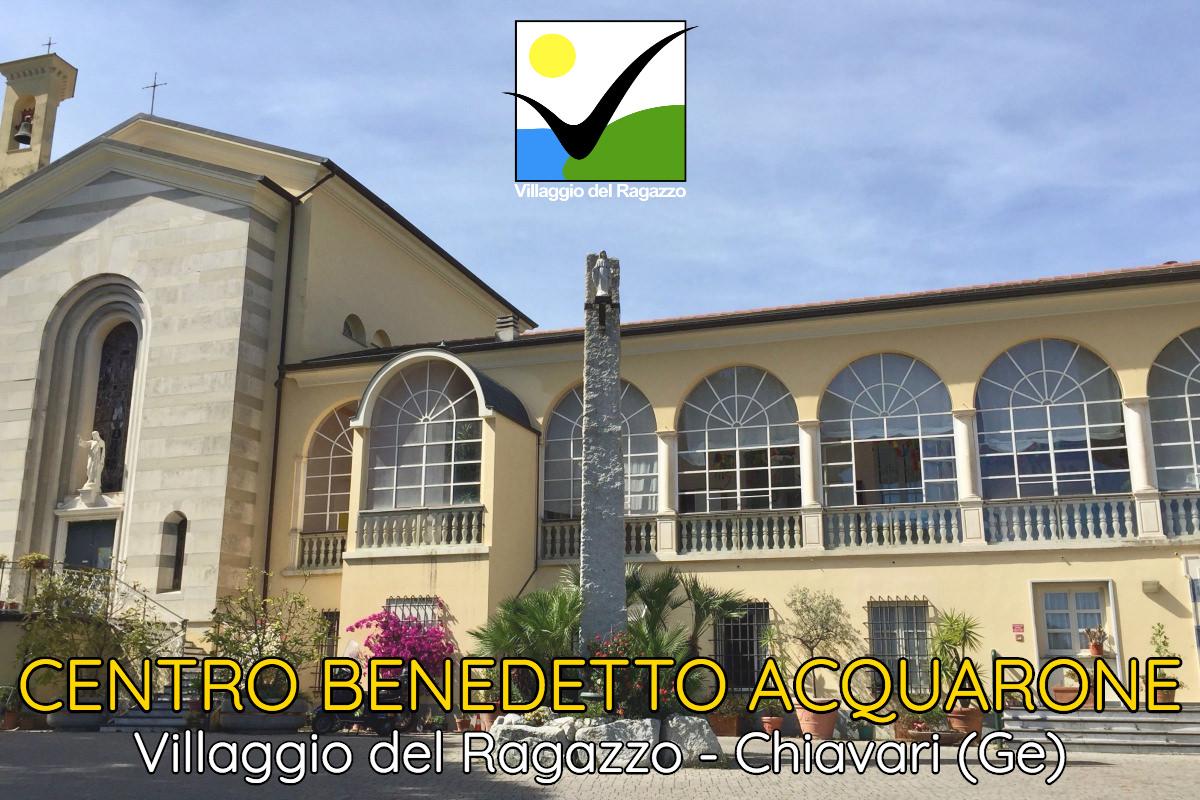 Centro Benedetto Acquarone copertina ingresso