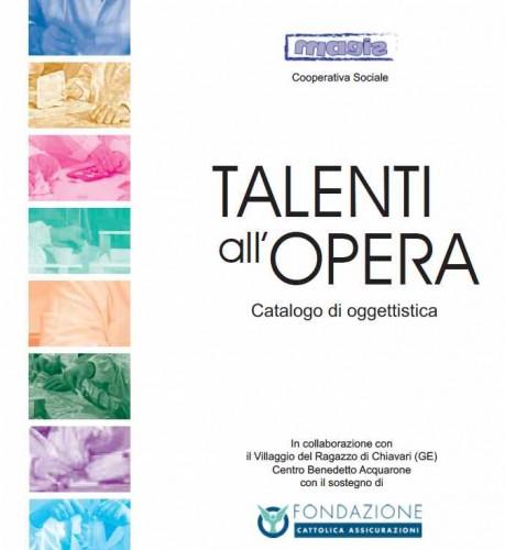 Catalogo Oggettistica progetto Talenti all'Opera