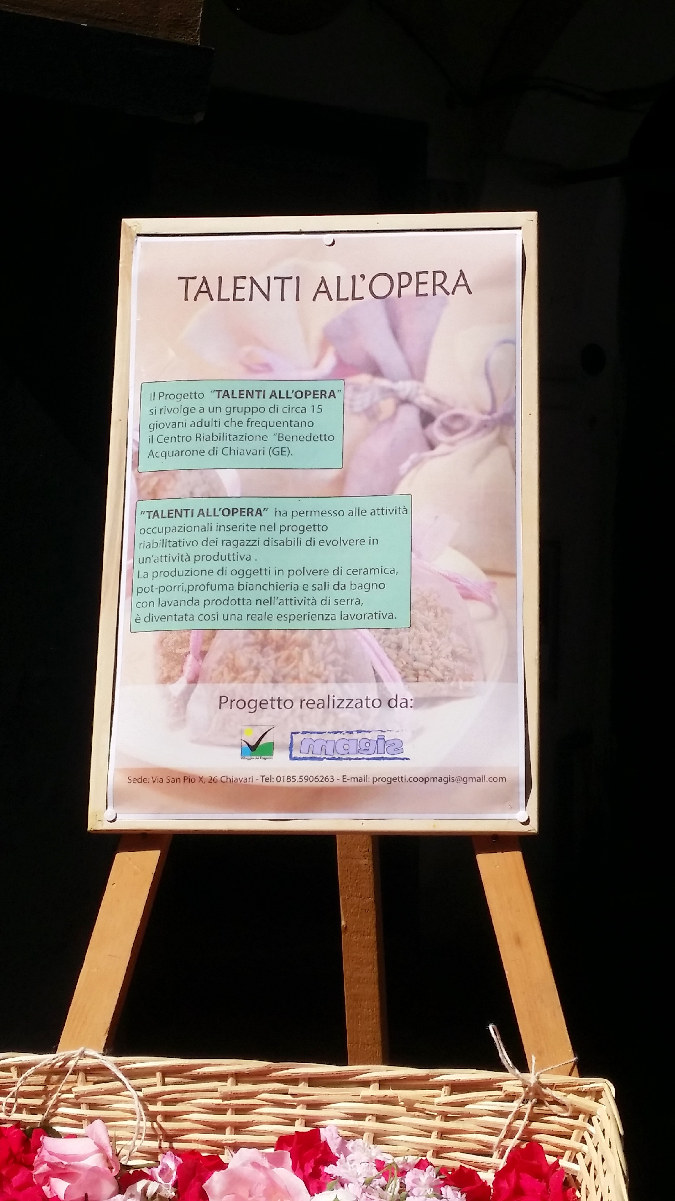 Area Disabili Talenti all'opera - Chiavari in fiore 2015