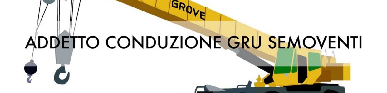 Banner corso VRS addetto conduzione gru semoventi