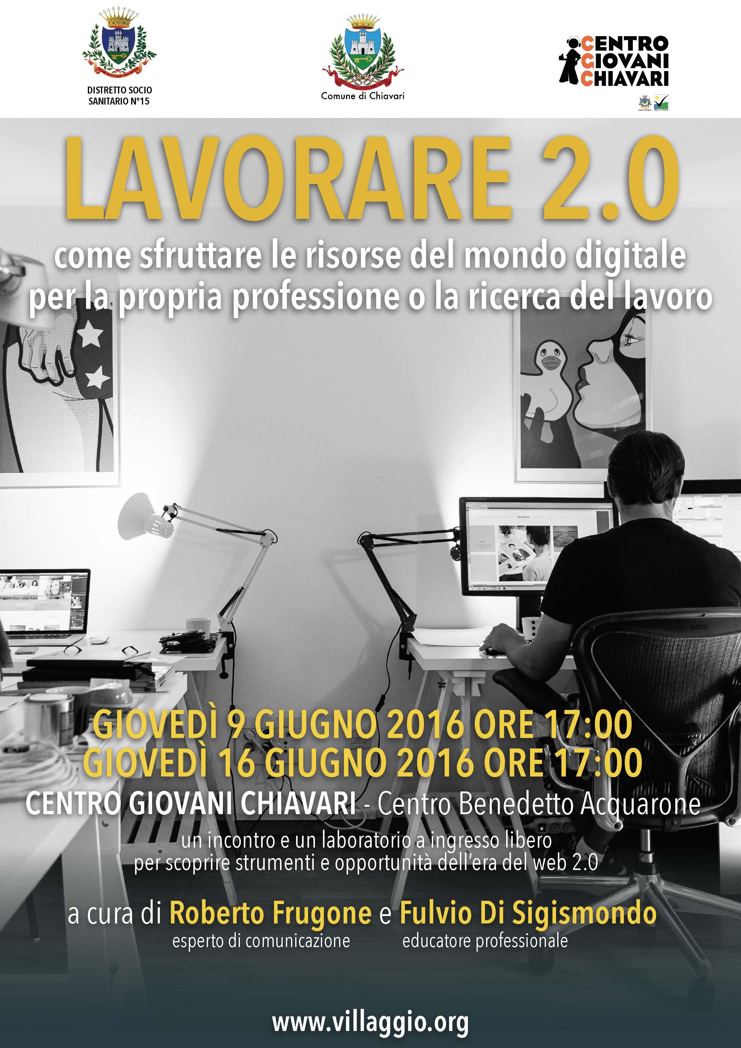 Lavorare 2.0 Centro Giovani Chiavari - locandina