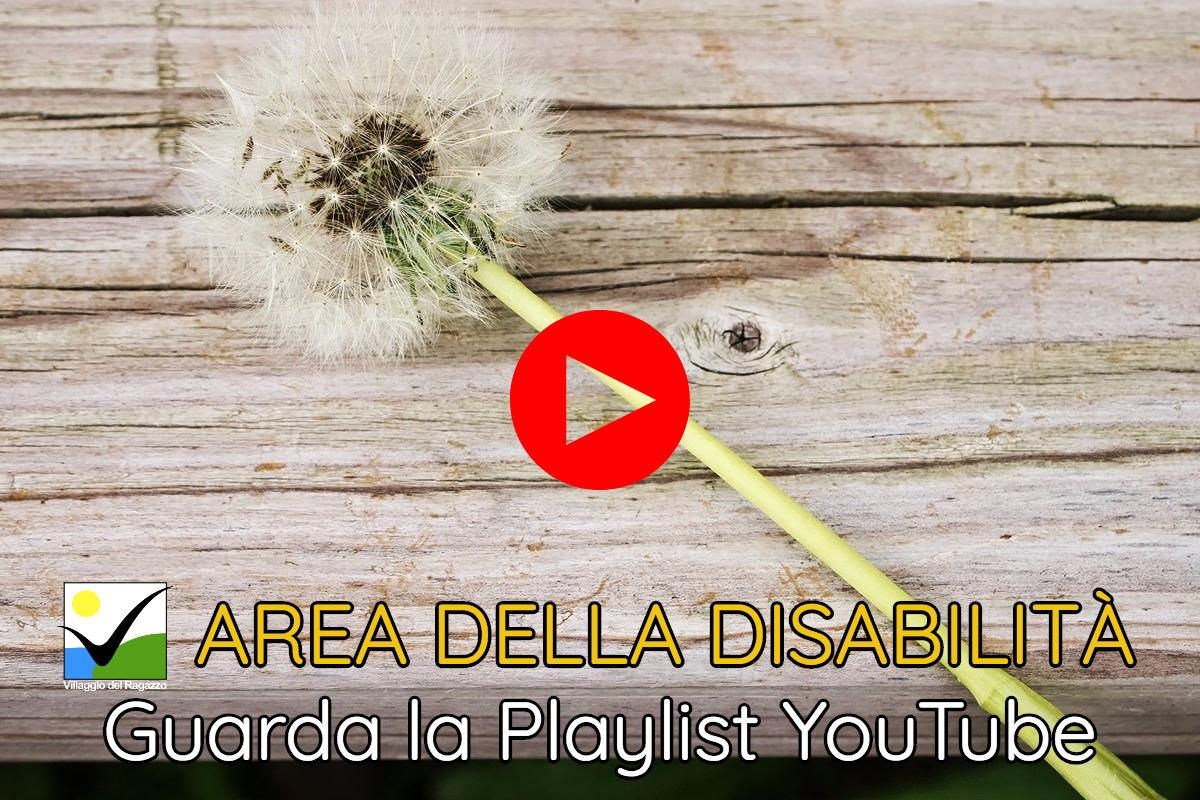 Area della Disabilità - Copertina Playlist YouTube