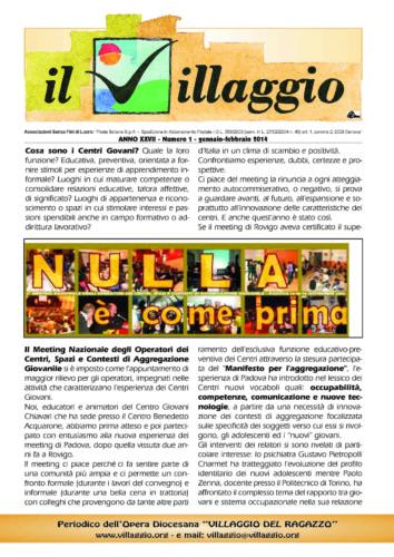 Periodico Il Villaggio - Anno XXVII n°1 gennaio-febbraio 2014