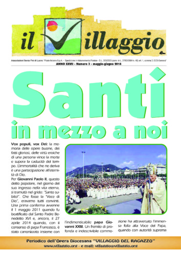 Periodico Il Villaggio - Anno XXVII n°3 maggio-giugno 2014