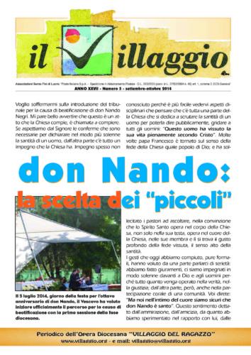Periodico Il Villaggio - Anno XXVII n°3 settembre-ottobre 2014