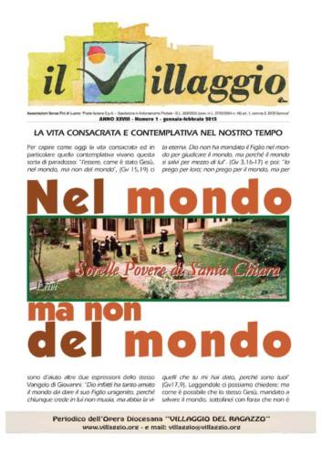 Periodico Il Villaggio - Anno XXVIII n°1 gennaio-febbraio 2015