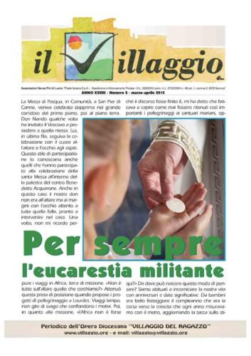 Periodico Il Villaggio - Anno XXVIII n°2 marzo-aprile 2015