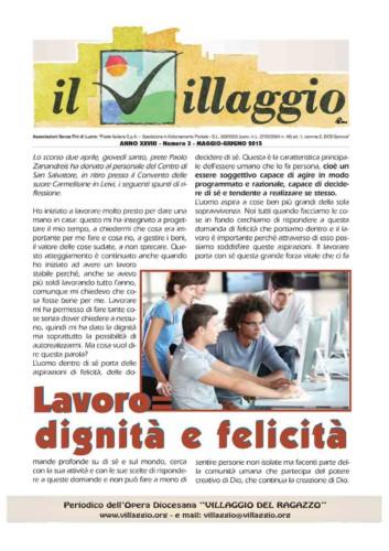 Periodico Il Villaggio - Anno XXVIII n°3 maggio-giugno 2015
