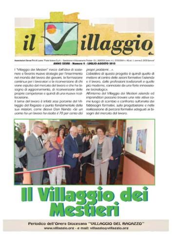 Periodico Il Villaggio - Anno XXVIII n°4 luglio-agosto 2015