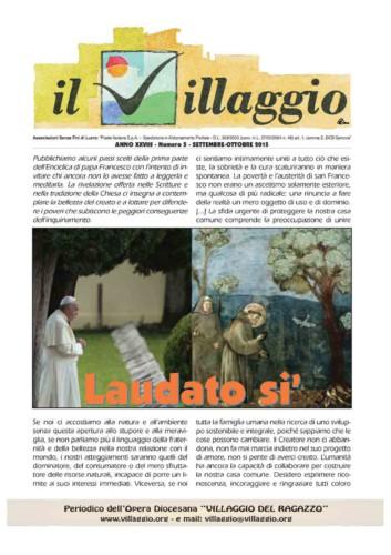 Periodico Il Villaggio - Anno XXVIII n°5 settembre-ottobre 2015