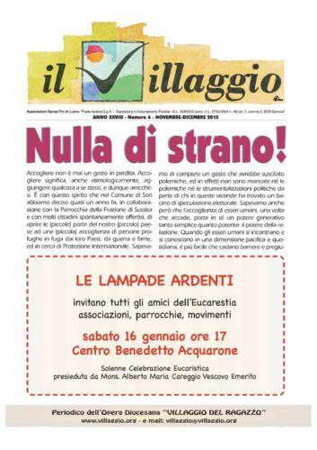 Periodico Il Villaggio - Anno XXVIII n°6 novembre-dicembre 2015