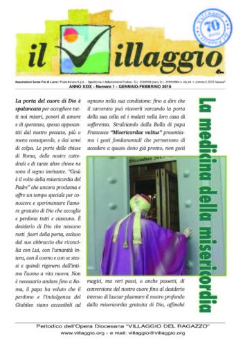 Periodico Il Villaggio - Anno XXIX n°1 gennaio-febbraio 2016