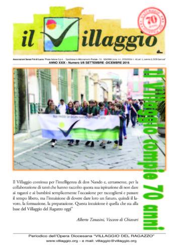 Periodico Il Villaggio - Anno XXIX n°5/6 settembre-dicembre 2016