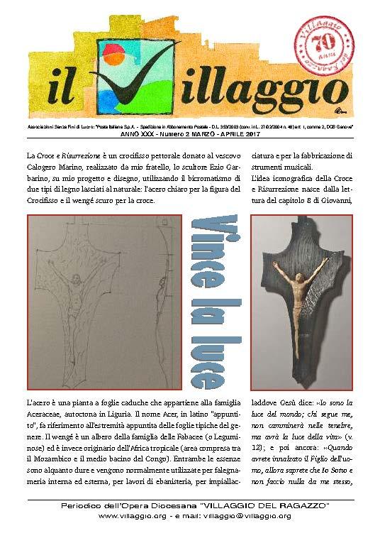 Periodico Il Villaggio - Anno XXX n°2 marzo-aprile 2017 Copertina