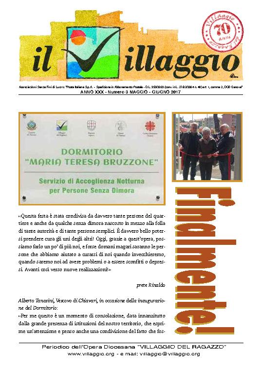 Periodico Il Villaggio 2017.05-06 Copertina