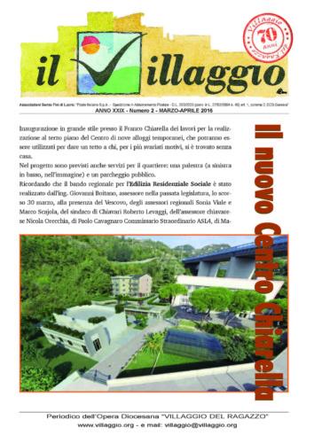 Periodico Il Villaggio - Anno XXIX n°2 marzo-aprile 2016