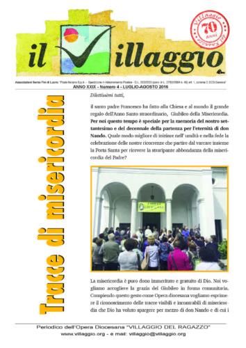 Periodico Il Villaggio - Anno XXIX n°4 luglio-agosto 2016