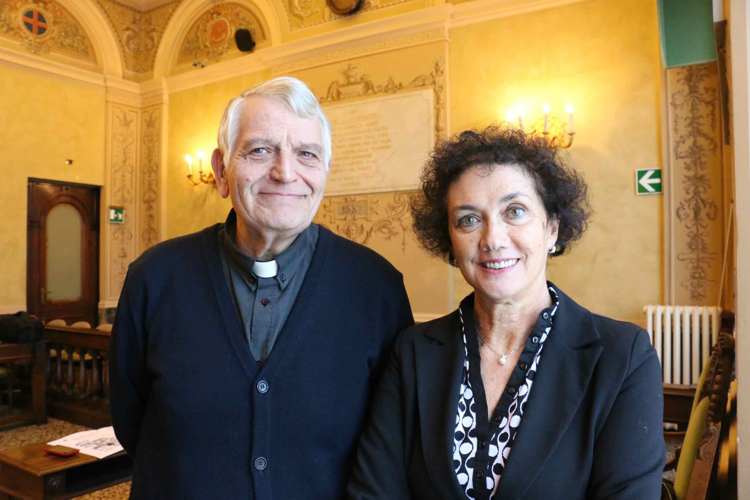 prete Rinaldo Rocca e Giovanna Tiscornia