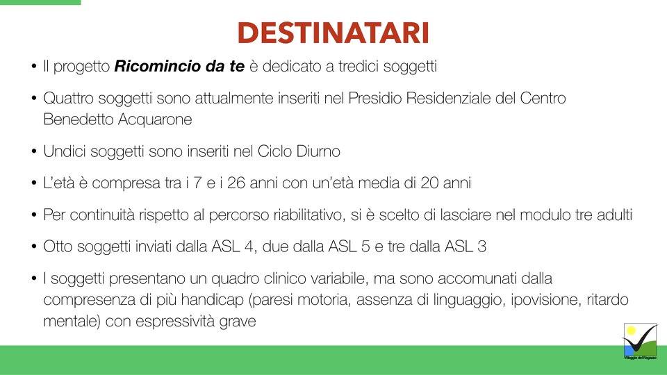 Villaggio del Ragazzo - Presentazione Ricomincio da te - Area Disabili.007
