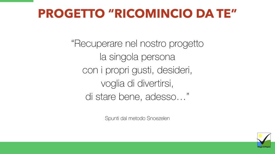 Villaggio del Ragazzo - Presentazione Ricomincio da te - Area Disabili.010