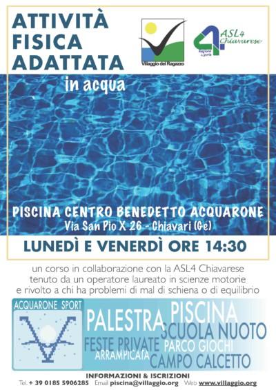 Acquarone Sport - AFA in acqua locandina