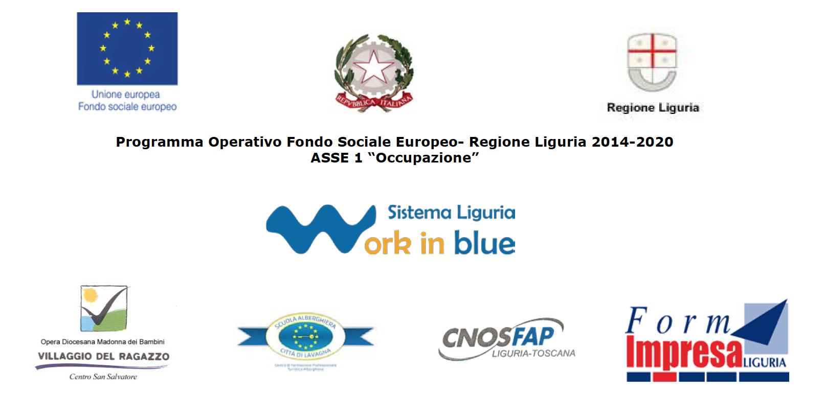 Sistema Liguria Work in Blue banner loghi