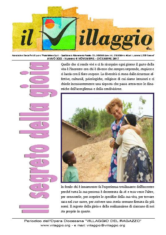 Periodico Il Villaggio 2017.11-12 Copertina