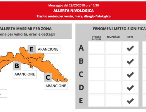 Allerta Meteo Arancione nivologica: giovedì 1 marzo sospese tutte le attività del Centro San Salvatore