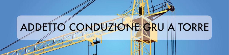 Banner corso VRS addetto conduzione gru a torre
