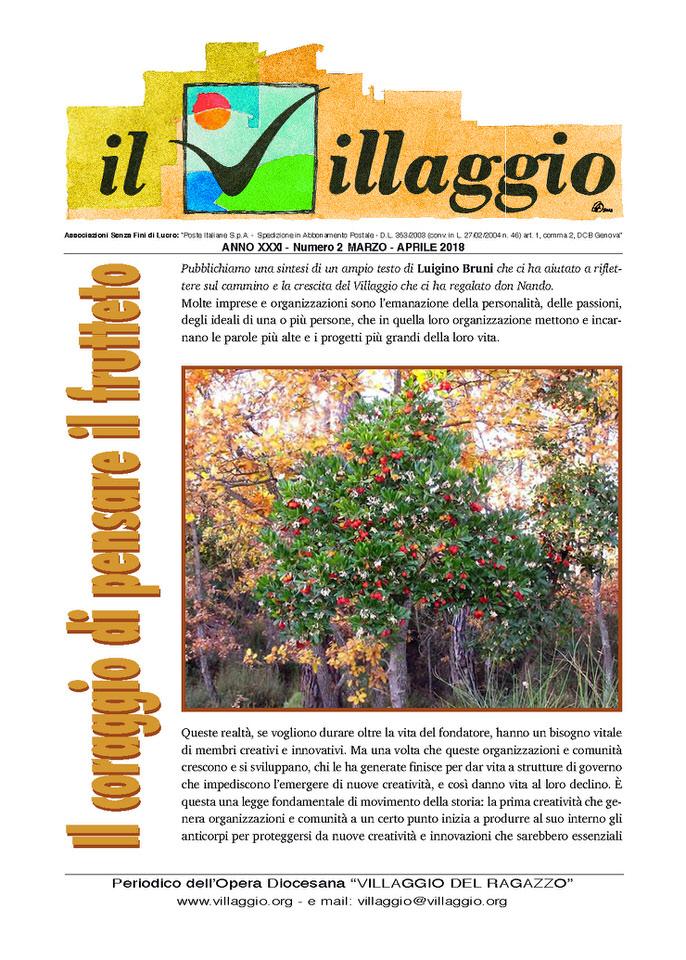 Periodico Il Villaggio 2018.03-04 Copertina
