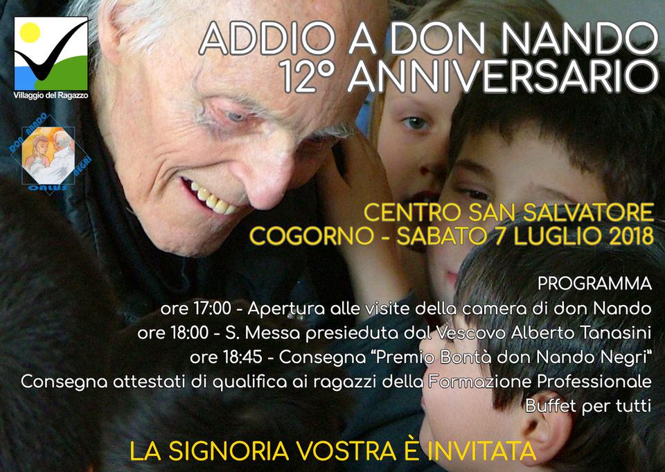 Cartolina invito AdDio a don Nando 2018