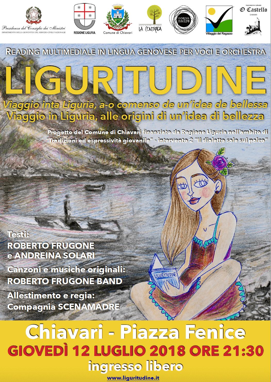 Liguritudine - locandina spettacolo 12 luglio 2018