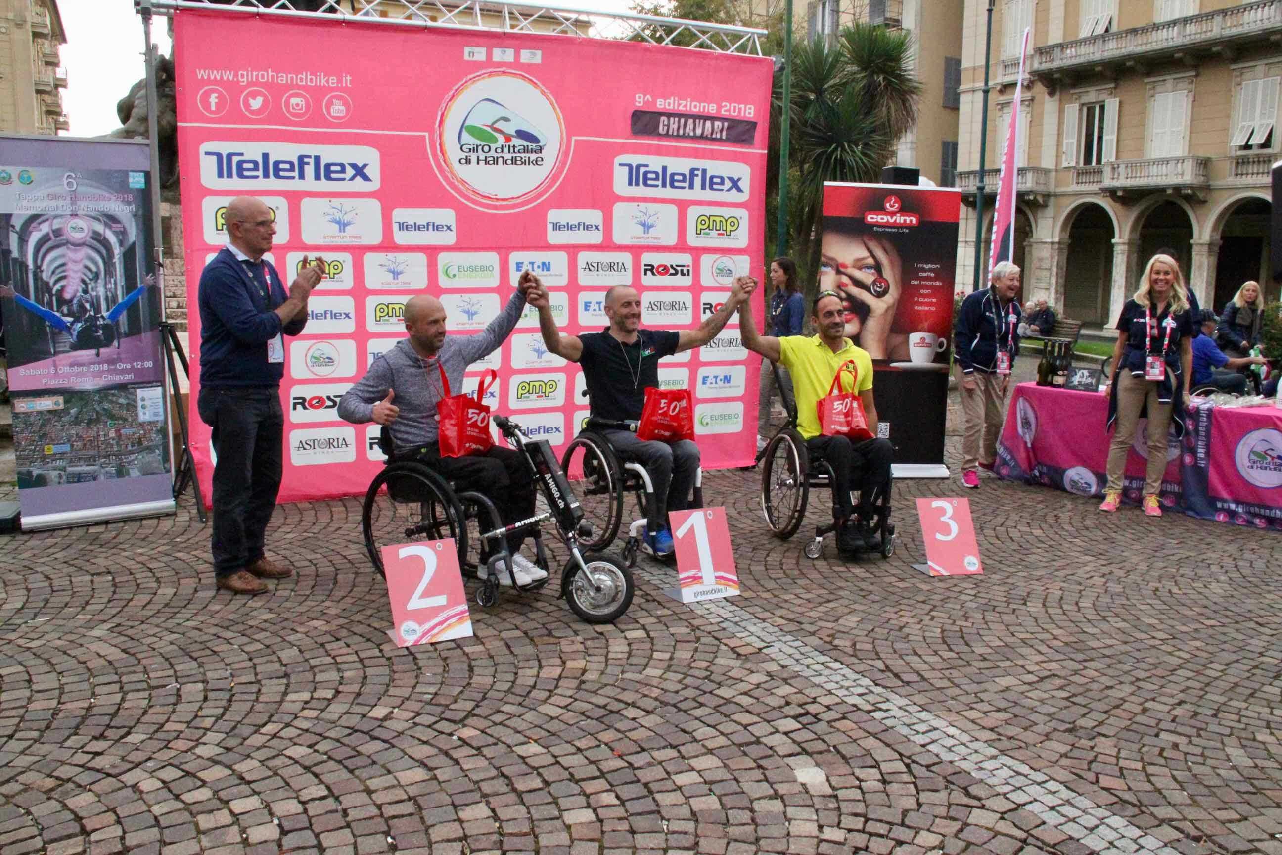 1° Memorial don Nando Negri a Chiavari per il Giro d'Italia Handbike 2018 - 21