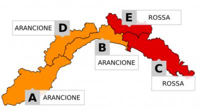 Allerta Meteo Rossa Regione Liguria 2018.10.30