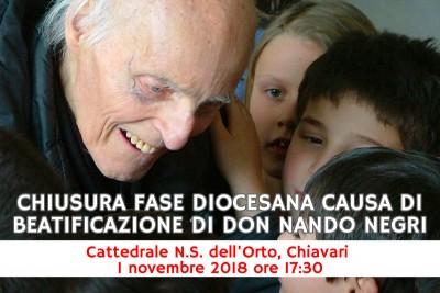 Chiusura fase diocesana causa di beatificazione di don Nando Negri