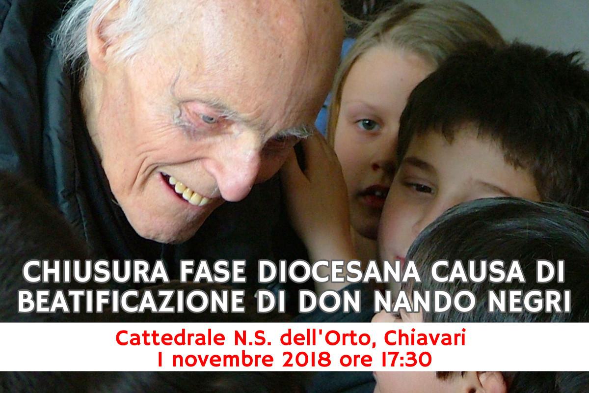 Celebrazione per don Nando del 1° novembre 2018 in cattedrale a Chiavari: l'invito di prete Rinaldo