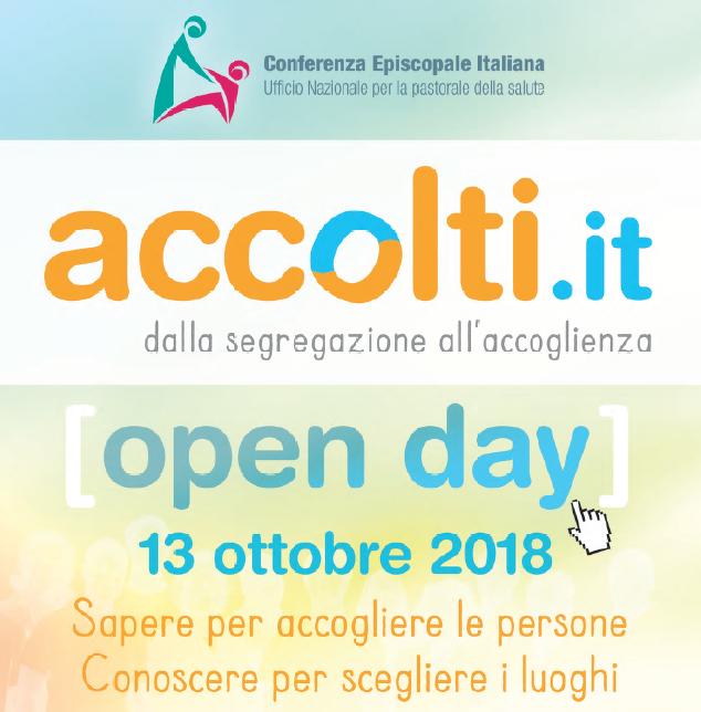 Copertina Open Day Accolti.it Centro Benedetto Acquarone - Villaggio del Ragazzo 13 ottobre 2018
