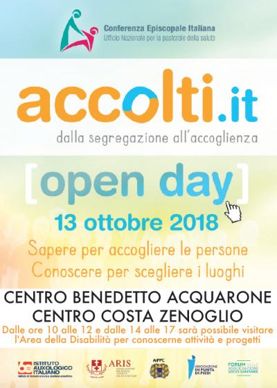 Open Day Accolti.it Centro Benedetto Acquarone e Costa Zenoglio 13 ottobre 2018