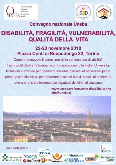 Convegno Nazionale Uneba 2018 - Disabilità, fragilità, vulnerabilità, qualità della vita