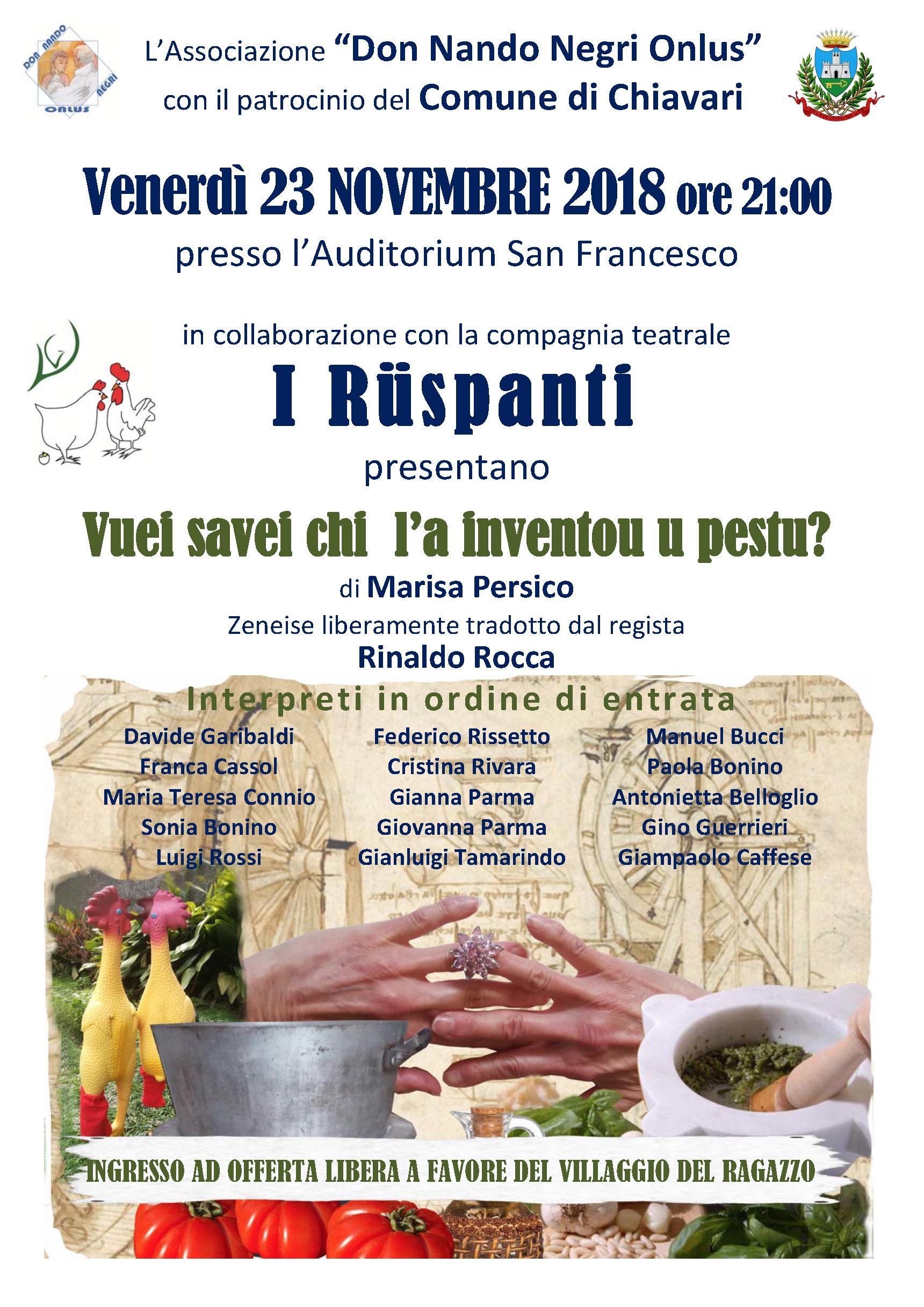 I Ruspanti - Vuei savei chi l'a inventou u pestu - Chiavari 2018.11.23