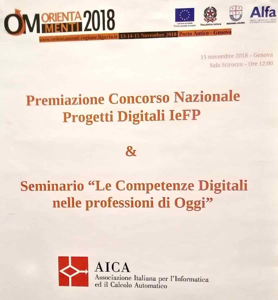 Premiazione Concorso Nazionale progetti Digitali IeFP