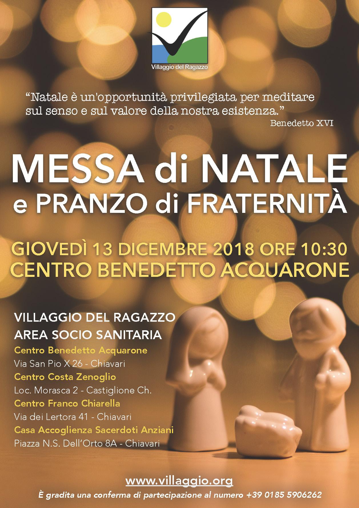 Villaggio invito Messa Natale 2018