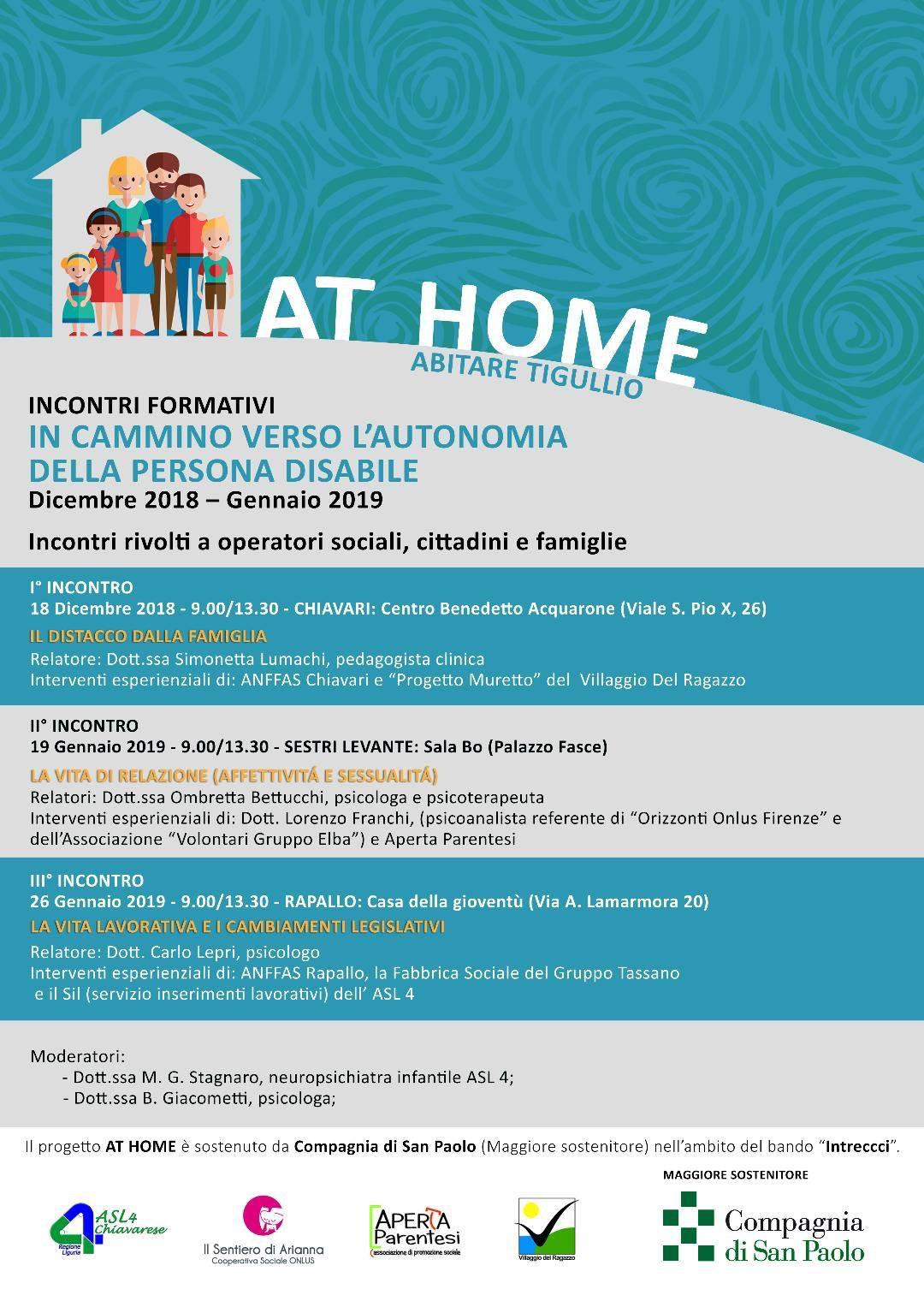 Progetto At Home - Abitare Tigullio