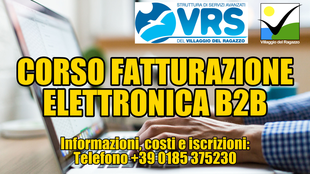 Copertina seconda edizione Corso Fatturazione Elettronica Villaggio del Ragazzo