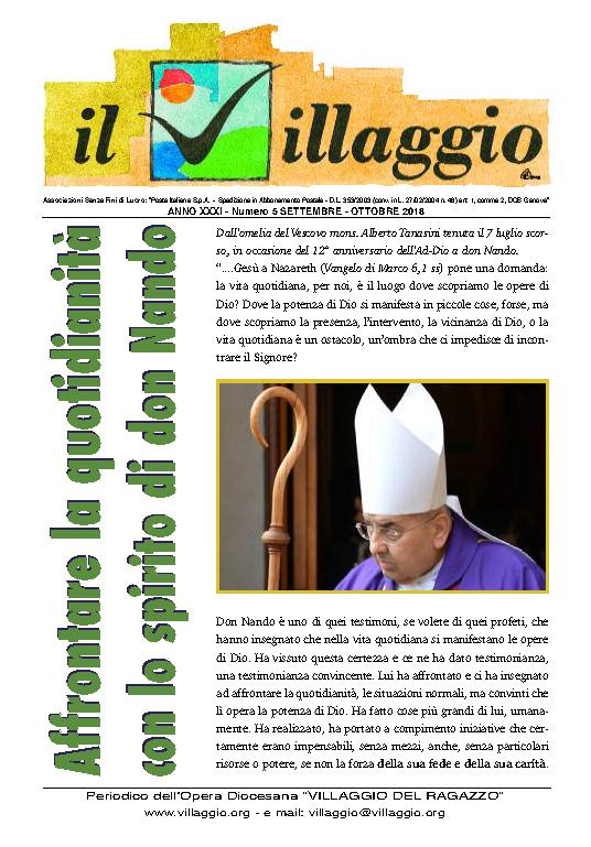 Periodico Il Villaggio - Anno XXXI n°5 settembre-ottobre 2018