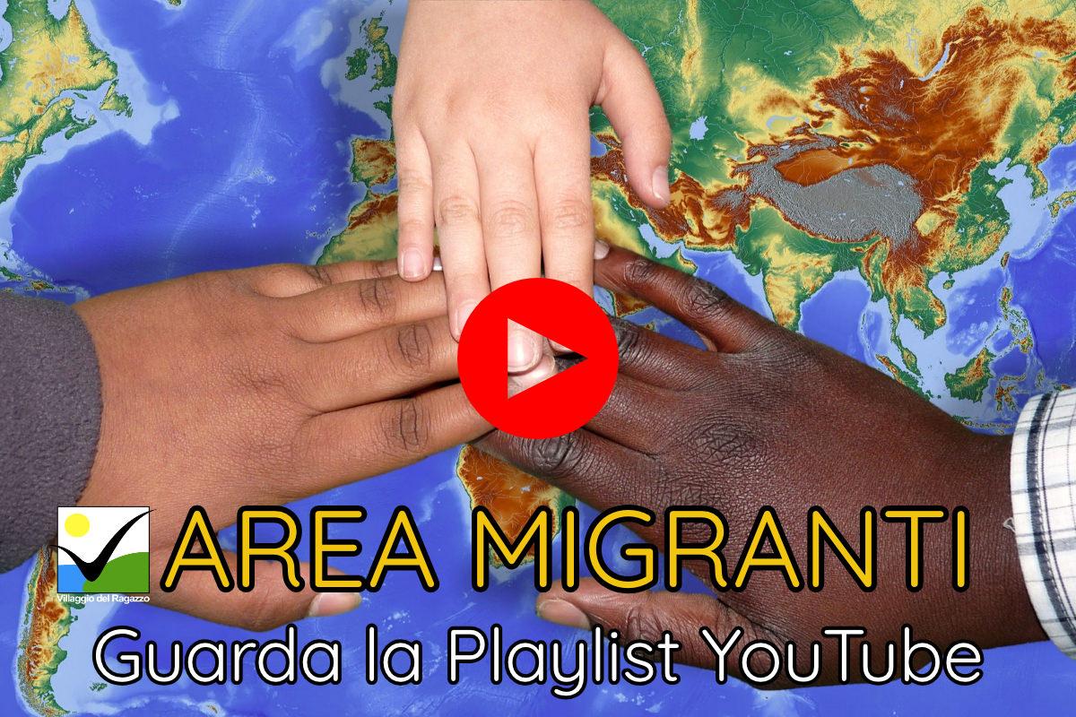 Copertina Playlist YouTube Area Migranti