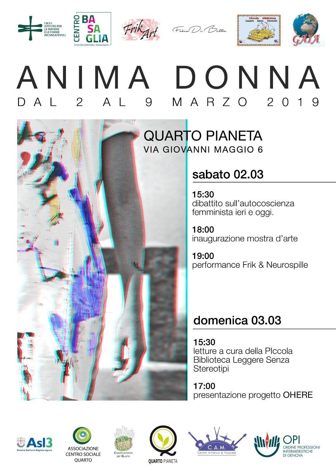 """Il progetto Ohere presentato a Genova nell'evento """"Anima Donna"""""""