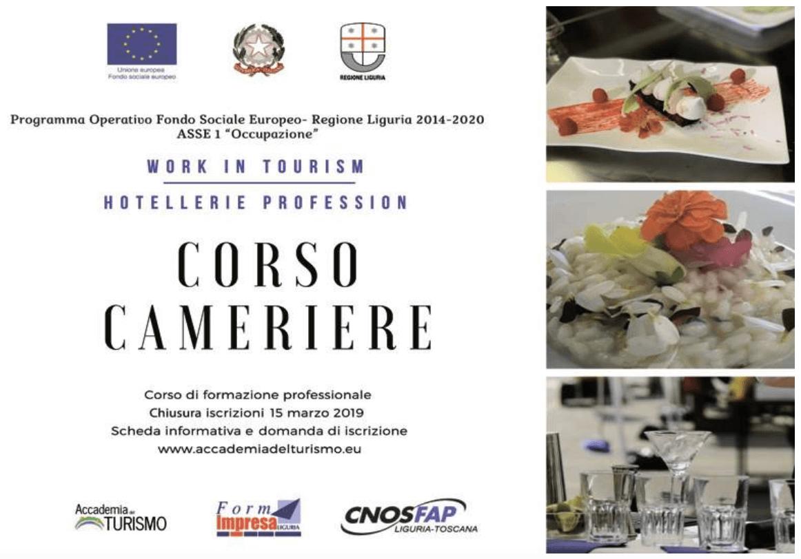 2019.03.07 Il Secolo XIX - Corso Cameriere Work in Tourism Hotellerie Profession