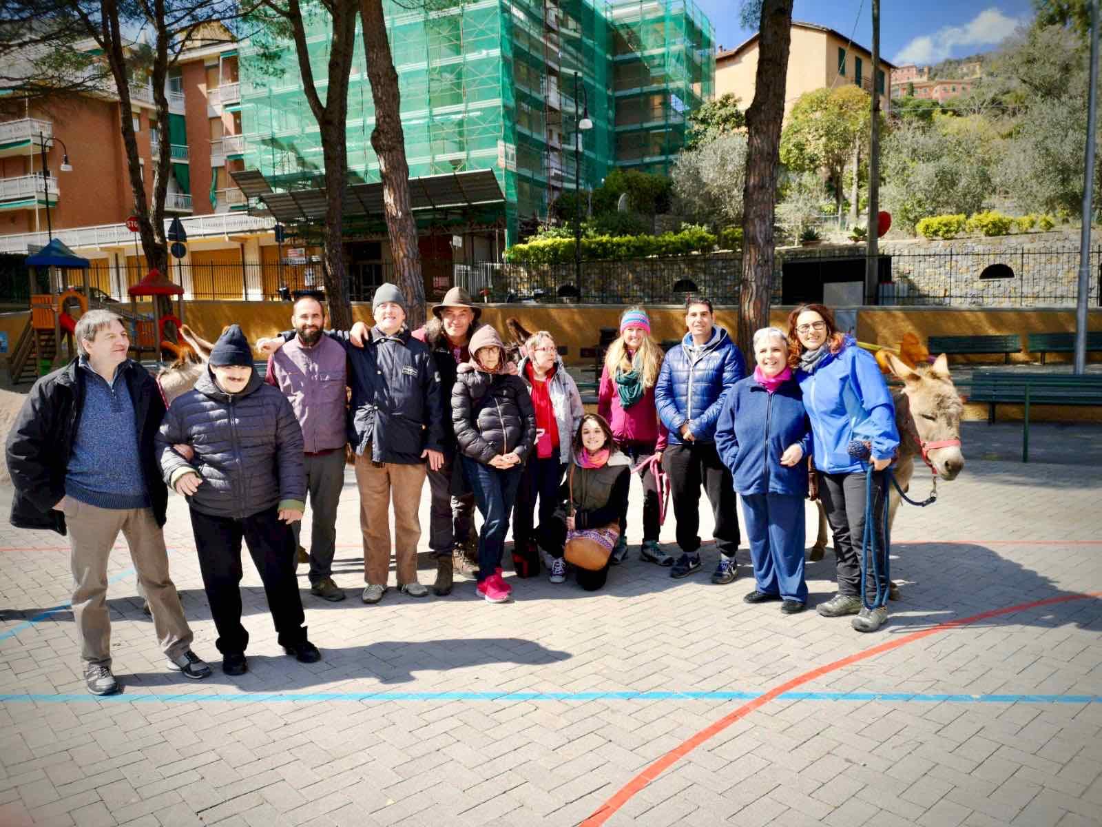 """L'Area della Disabilità del Centro Acquarone all'iniziativa """"L'asino accogliente… per bambini piccini e altra gente"""" di Santa Margherita Ligure"""